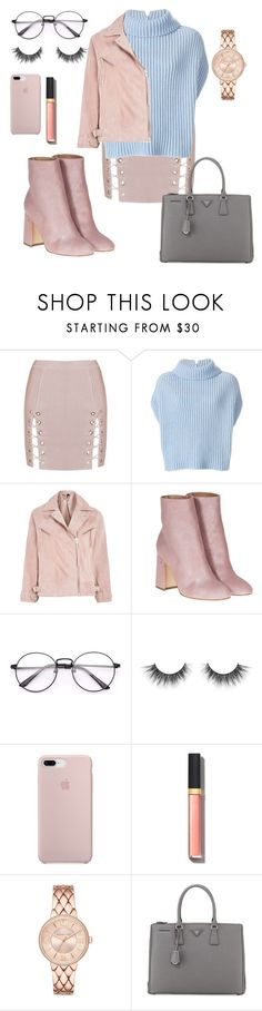 """PASTEL"" by petrescudenisa on Polyvore featuring Jil Sander, Topshop, Laurence Dacade, Chanel and Prada"