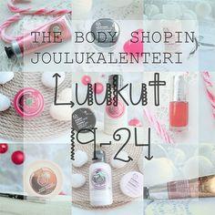 The Body Shop joulukalenteri tuotteet 2015