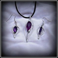 Amethyst pendant and earring / SOLD /