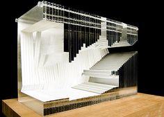 study model for the Aula Magna Universita Luigi Bocconi