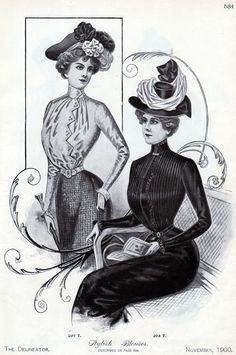The Victorian Era had another shift. During this era, some women began to work in the workforce. For this reason, certain aspects of fashion changed so that the clothing could be appropriate for the job. The new blouse that was introduced was the shirtwaist blouse. Clothing was still fashionable and elaborate. Hats were decorated and skirts were long. Some clothing still had leg-o-mutton styled sleeves.