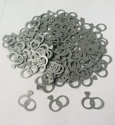 Cricut Wedding Ring Confetti 120 Pieces by CannonCraftsbySarah, $2.75