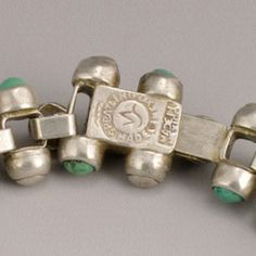 "1940's vintage William Spratling Silver and Turquoise ""Caviar"" Bracelet"