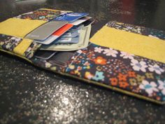 Love this one!!! Yellow Floral Patchwork Passport Wallet with by MissKellyMullen, $11.00