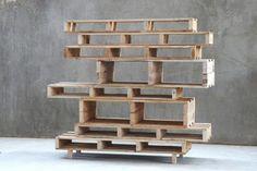 Room divider of europallets ideas wood design