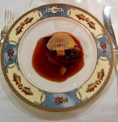Foie gras with passion fruit sauce
