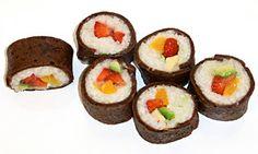 Himmlische Süßigkeiten: Süßes Sushi - Früchte Futomaki