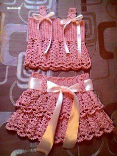 Conjunto rosa [] #<br/> # #Cro | <br/>    Crochet