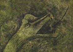 """""""Quetzalcóatl"""", mixografía en colores sobre papel grueso hecho a mano, (DETALLE). 24"""" x 47 3/4"""", lámina 27 3/4"""" x 53 3/4"""", 1978"""