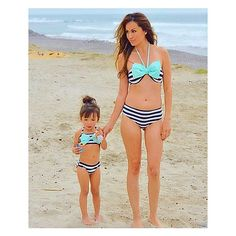 SUMMER LOVIN' Beautiful Fashionistas Alessandra & Momma Virginia in their mommy and me matching bikinis. This swimwear will be available… Mommy And Me Outfits, Family Outfits, Kids Outfits, Mommy And Me Swimwear, Baby Bikini, Bikini Mayo, Cute Babies Photography, Mother Daughter Fashion, Kids Fashion