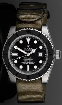 """Project X Designs """"Stealth"""" Customized Rolex Submariner Watch"""
