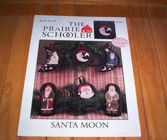 SANTA MOON The Prairie Schooler  No. 53 Cross Stitch by TheOldOwl