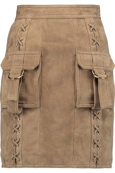 Shop on-sale Balmain Lace-up buckle suede mini skirt. Browse other discount designer Skirts & more on The Most Fashionable Fashion Outlet, THE OUTNET.COM