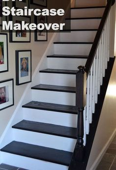 diy staircase makeover, diy, flooring, home decor, how to, stairs, Finished staircase makeover