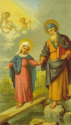 Saint Joachim and his daughter Blessed Virgin Mary.