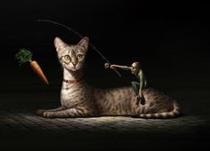 Does not work! by Oscar Ramos and Javier Martinez, via Behance Type Illustration, Cat Art, Avengers, Gallery, Cats, Instagram, Creative, Animals, Behance