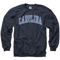 North Carolina Tar Heels Adult Classic Arch Crewneck Sweatshirt ($25) ❤ liked on Polyvore featuring tops, hoodies, sweatshirts, sweaters, college, crew neck sweatshirts, crew-neck tops, crew-neck sweatshirts, sport top and sports sweatshirts