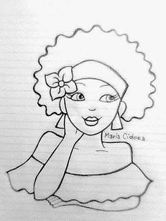40 Super Ideas For Embroidery Riscos Menina Hand Embroidery Patterns, Embroidery Stitches, Drawing Sketches, Art Drawings, Coloring Books, Coloring Pages, Pintura Country, Fabric Painting, African Art