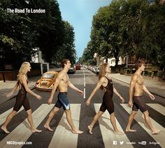US Olympians Take Abbey Road - Swimmers