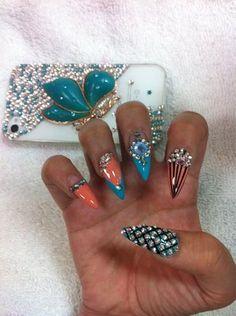 Photos for Blue Diamond Nails | Yelp Blue Diamond Nails, Photos, Nail Art,