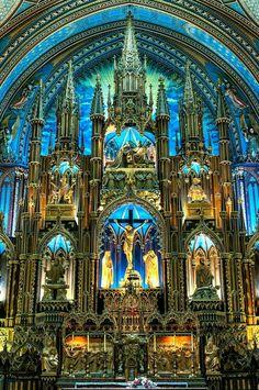 "cvllam: "" Interior of the Basilica of Notre Dame in Montreal, Canada. "" Interior of the Basilica of Notre Dame in Montreal, Canada. Church Architecture, Beautiful Architecture, Beautiful Buildings, Basilica Architecture, Beautiful World, Beautiful Places, Notre Dame Basilica, Old Churches, Catholic Churches"