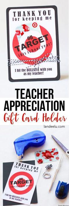 Teacher Appreciation Gift Idea: Target Gift Card Holder