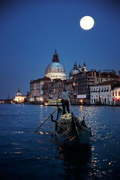 A gondola on the Grand Canal under a twilight sky. Venice Travel, Italy Travel, Scenic Photography, Landscape Photography, Photography Basics, Aerial Photography, Night Photography, Landscape Photos, Great Places