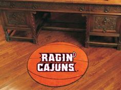 "Louisiana-Lafayette Basketball Mat 27"""" diameter"