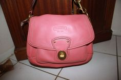 NEW COACH  Authentic $398 ALI Legacy  PINK Leather Hobo Purse Bag NR!