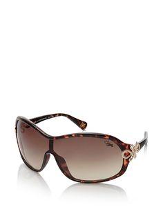 Diane von Furstenberg Shield Sunglasses Dark Tortoise