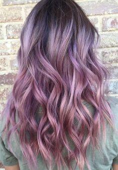 cheveux violet mauve ondules #HairCareArt
