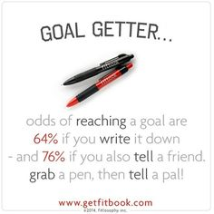spend time this weekend putting pen to paper. writing down goals works! tell me: what's your BIG goal for 2015? #livelifefit