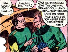 Matter-Eater Lad (Tenzil Kem) and his brother, Renkil. From Superboy #184 (1972). Art by Murphy Anderson.