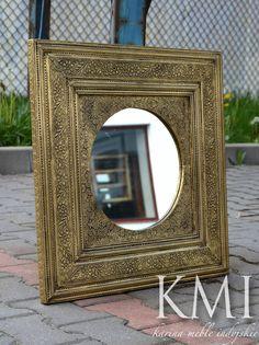 """lustro w złotej ramie """"Golden Circle"""""""
