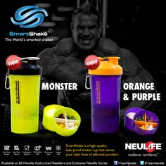 SMARTSHAKE Product Ads, Shaker Cup, Orange And Purple, Pills, Drink Bottles, Dishwasher, Drinks, Drinking, Dishwashers
