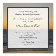 invitation wording Celebration of Life Invitation #memorial: