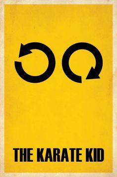 Karate Kid, movie, poster, minimalism