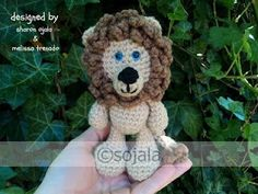 Amigurumi To Go: Little Bigfoot Lion Free Crochet Lion Pattern Crochet Lion, Crochet Quilt, Free Crochet, Irish Crochet, Crochet Edging Patterns, Crochet Patterns Amigurumi, Puppet Patterns, Knitted Animals, Stuffed Animal Patterns