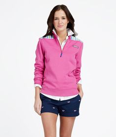 Women's Pullovers: Multi Gingham Shep Shirt & Embroidered Whale Shorts for Women - Vineyard Vines