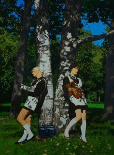 The birch trees, 2008 Oleg Maslov Canvas/oil 190x140 cm