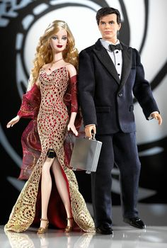 James Bond 007 Ken® and Barbie® Giftset 2002 Prod Code B0150 Collector Edition