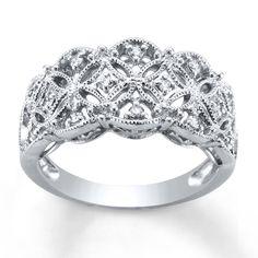 Kay - Diamond wedding Ring 1/5 ct tw Round-cut Sterling Silver
