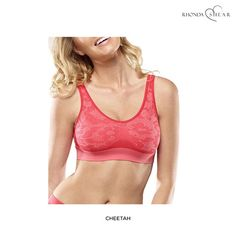 """4-Pack: Rhonda Shear Seamless """"Ahh"""" Leisure Bras - Assorted Colors & Extended Sizes"""