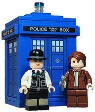 Lego Doctor Who Dr Who Dalek Custom Mini Figure Rouge