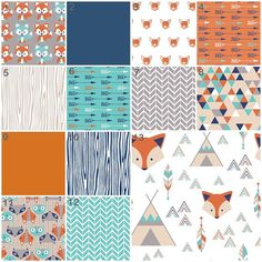 Like 4,  5, 6, 7, 10 and 13. Now where to find them?   Fox Say Modern Custom Crib Option Baby Bedding Crib by modifiedtot