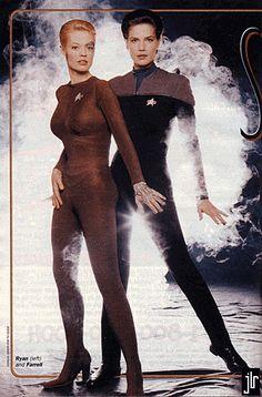 Star Trek Voyager - Seven of Nine (Jeri Ryan), and Deep Space Nine - Jadzia Dax (Terry Farrell).