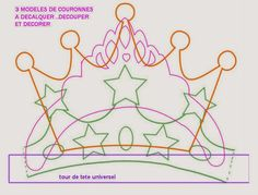 Oh My Fiesta! in english: Crowns templates. Crown Template, Heart Template, Butterfly Template, Flower Template, Foam Crafts, Diy And Crafts, Crafts For Kids, Arts And Crafts, Paper Crafts