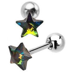 Star cartilage earrings