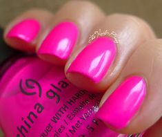 The nail buff: china glaze purple panic hot pink nails, purple nail p Hot Pink Nails, Purple Nail Polish, Purple Nails, Nail Polish Colors, Nail Polishes, Nail Nail, Manicures, Gel Polish, Pink Wedding Nails