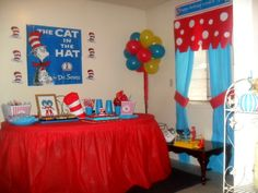 Dr. Seuss Decorations for table and curtains